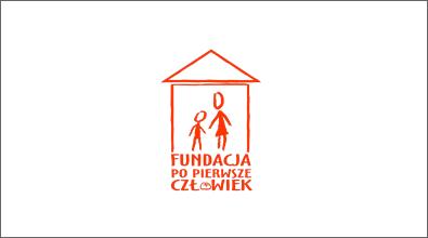 """Logotyp Fundacja """"Po pierwsze człowiek"""""""